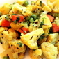 "Indian Cauliflower ""Sabji"" with Peas and Carrots"