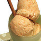 Creamsicle ice cream with fudgsicle sauce