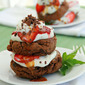 Chocolate Strawberry Shortcake Towers