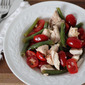 Tomato-green bean salad with shallot dressing: two recipes