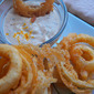 Beer Battered Onion Rings with Spicy Aioli