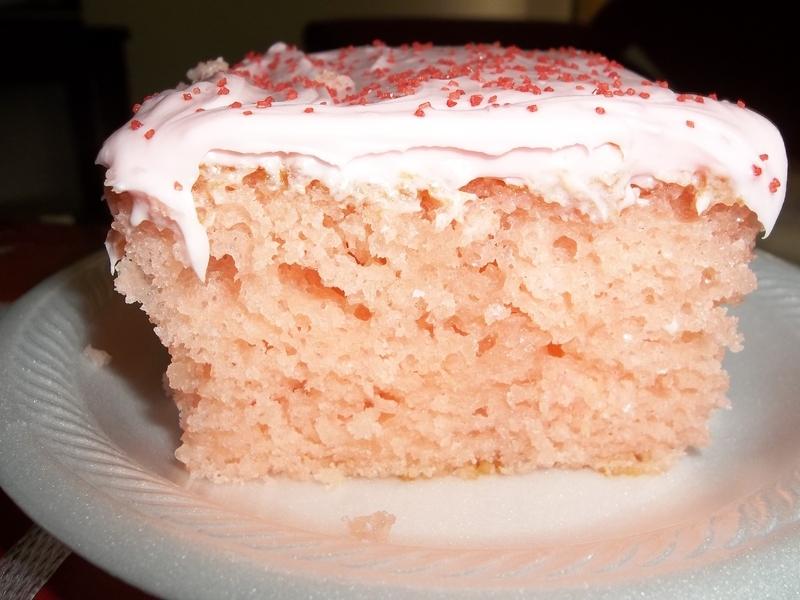 Pink Lemonade Poke Cake
