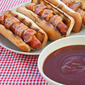 Bacon Wrapped Dogs with J Dawg Sauce