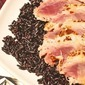 Summer grilling: Seared Panko Encrusted Tuna on Black Rice #WorldHarbors #GoldenLabel