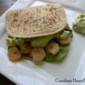 Shrimp Pita with Avocado Dressing
