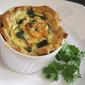 Friday Pie Day: Single Serving Prawn and Coriander Quiche