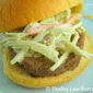 Beijing Beef Sliders with Broccoli Slaw Topping