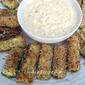 Baked Zucchini Wedges and Sweet Onion Dip