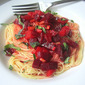 Laurie Colwin's Beets w/ Angel Hair
