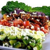 Grilled Chicken Cobb Salad with Chipotle Buttermilk Dressing