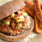 Fajita Turkey Burgers and Sweet Potato Fries