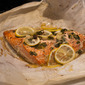 Salmon and Scallions In Parchment Paper