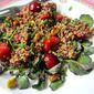 Quinoa Salad w/ Cherries, Pistachios & Watercress