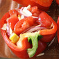 Say Happy Father's Day With a Big Steak and My Version of Delia Smith's Piedmont Roasted Peppers