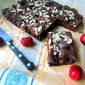 Roasted Cherry Chocolate Brownies OH MY!
