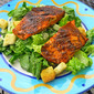 Blackened Salmon Caesar Salad at the Edmonds Arts Festival