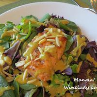 Mustard Dressed Grilled Salmon {gluten free}