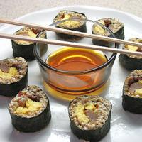 Gluten Free Steel Cut Oat Breakfast Sushi