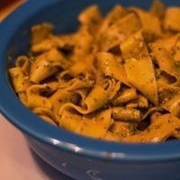 Cilantro Pesto with Lemon Pepper Pasta