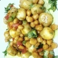 baby potato n chickpea salad