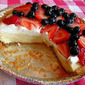 Creamy Key Lime Pie with Berry Topping
