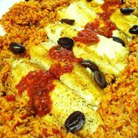 Tilapia with Roasted Red Pepper & Chipotle Rice