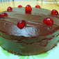 Making Chocolate Cake with Chocolate Ganache Topping