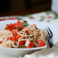 Angel hair pasta with tomatoes and basil