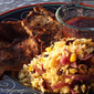 Marinated Boneless Pork Slices with Rice
