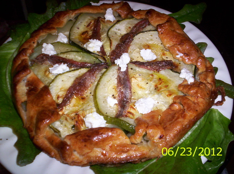 Zucchini Tart w/ Sun-dried Tomatoes and Anchovies