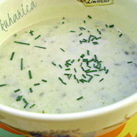 Cucumber and garlic soup