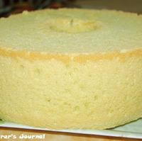 Making Favorite Pandan Chiffon Cake