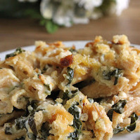 Macaroni and cheese with kale
