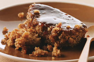Baked date pudding