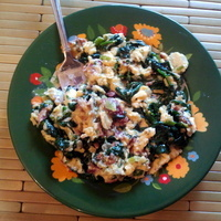 Fresh Herbs and Spinach Scramble