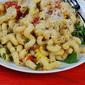 Summer Pasta With Tomatoes, Corn, Basil, Bacon & Arugula