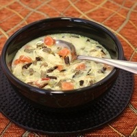 Simple and Quick Wild Rice Chicken Soup