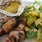 Grilled Meyer Lemon-Oregano Chicken Legs