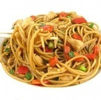 Skinny and Sensational, Thai Chicken and Peanut Noodles