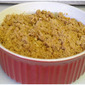 Mashed Sweet Potatoes with Pecan Streusel