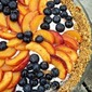 Frozen Blueberry-Peaches and Cream Pie