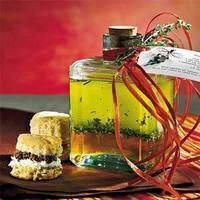 Cream Cheese and Olive Biscuits with Olive Parsley Spread