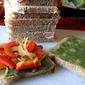 Mashed Potato and Veggie Sandwiches with Cilantro-Mint chutney