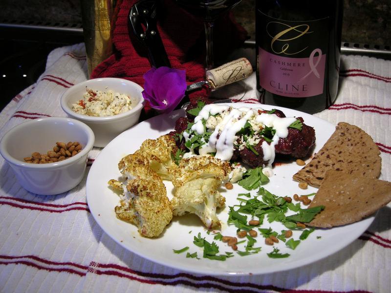 Turkish Lamb Kofta With Cherries & Yogurt