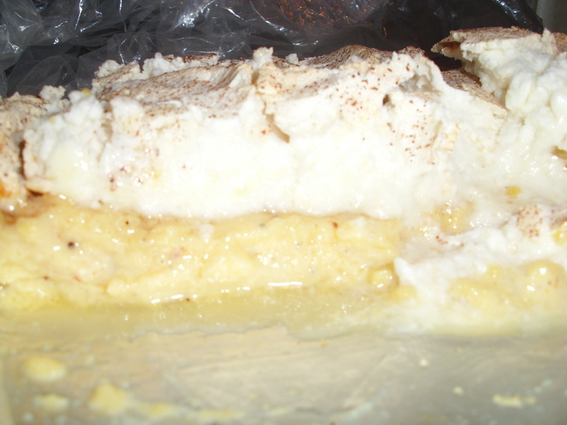 Cream of Sago Pudding with a Lemon Meringue Topping