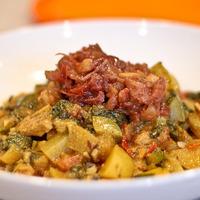 Aloo Chana Saag Chicken Curry