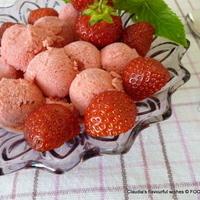 Strawberry Banana Limoncello ice-cream delight