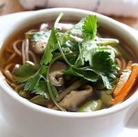 Asian Seafood and Noodle Soup