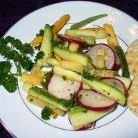 Zucchini, Yellow Squash & Radish Salad