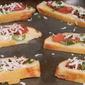 Roasted Tomato, Basil & Mozarella Bruschetta